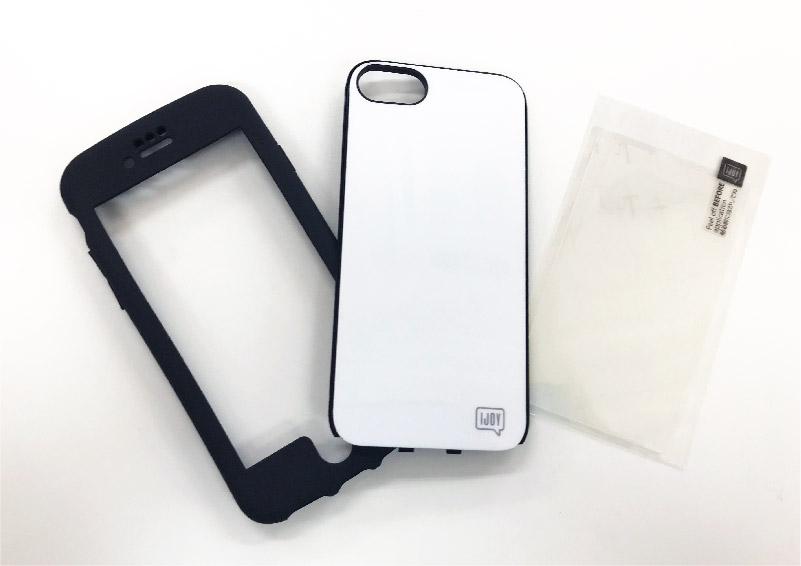 iPhone8/7/6s/6対応 全面衝撃吸収のスマホケース アイジョイの3つのパーツ
