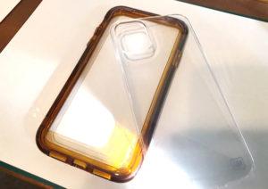 アイジョイiPhone11クリアシリーズブラウン